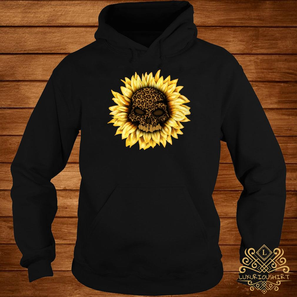 Skull Leopard sunflower hoodie