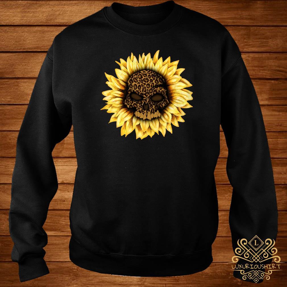 Skull Leopard sunflower sweater