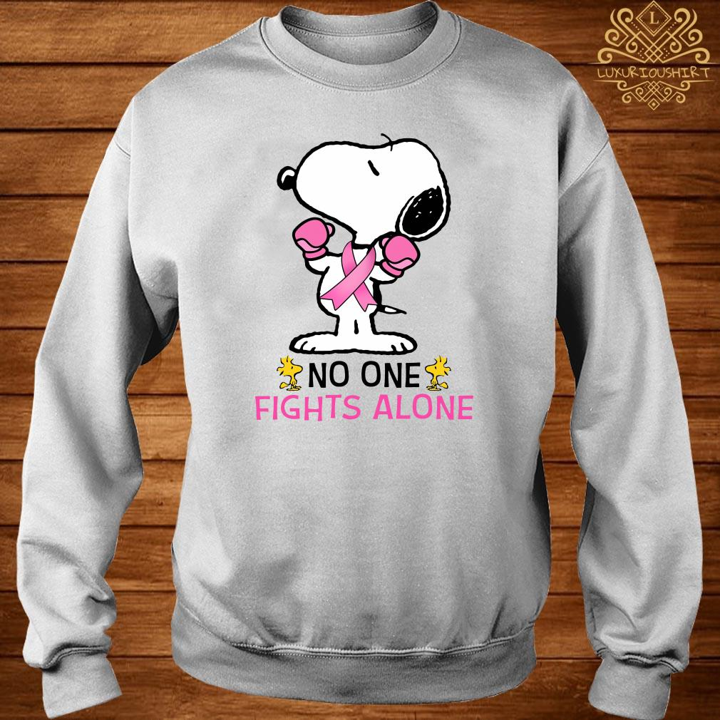 Snoopy no one fights alone sweater