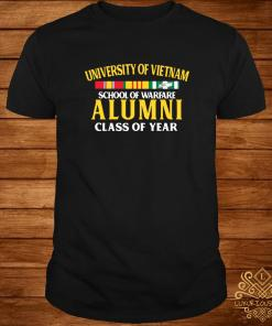 University of Vietnam school of warfare alumni class of year shirt