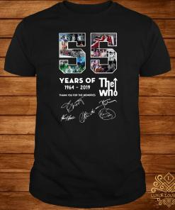 55 Years Of The Who 1964-2019 Thank You For The Memories Signature Shirt