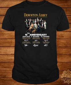 Downton Abbey 10th anniversary 2010-2020 signatures shirt