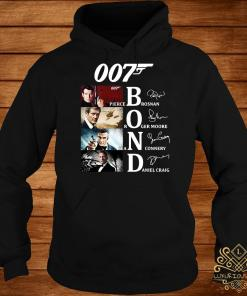 007 Pierce Brosnan Roger Moore Sean Connery Daniel Craig Signatures Hoodie