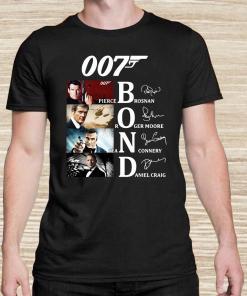 007 Pierce Brosnan Roger Moore Sean Connery Daniel Craig Signatures Unsiex Hoodie