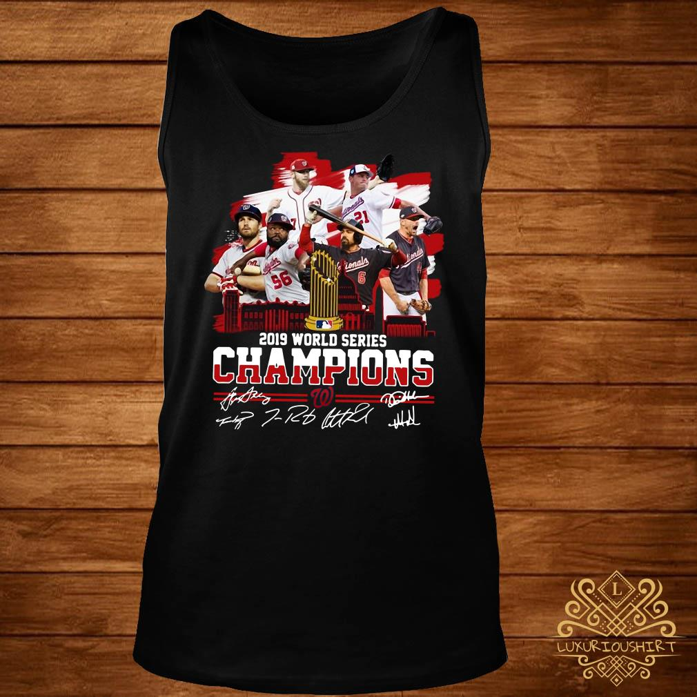 Washington Nationals 2019 World Series Champions Signatures Tank-top