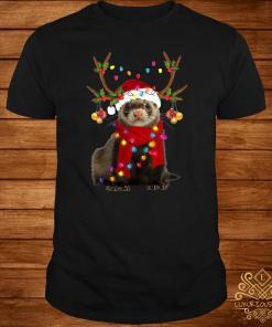 Ferret Gorgeous Reindeer Christmas Shirt