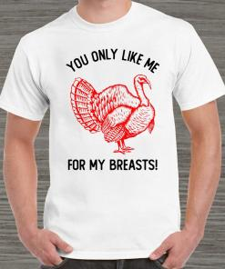 You Only Like Me For My Breasts Thanksgiving tank-top