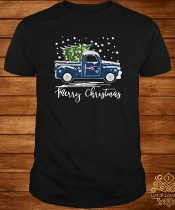 New England Patriots Pickup Truck Merry Christmas Shirt