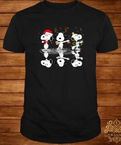 Snoopy Water Reflection Mirror Christmas Shirt