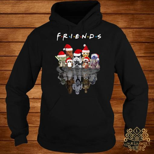 Star Wars Chibi Characters Water Reflection Mirror Friends Christmas Hoodie