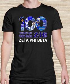 100 Years Of 1920-2020 ZOB Zeta Phi Beta Unisex
