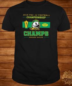 2019 Pac 12 Football Championship Champs Oregon Ducks Shirt