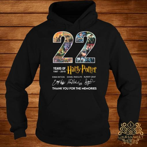 22 Years Of 1977-2019 Harry Potter Thank You For The Memories Hoodie