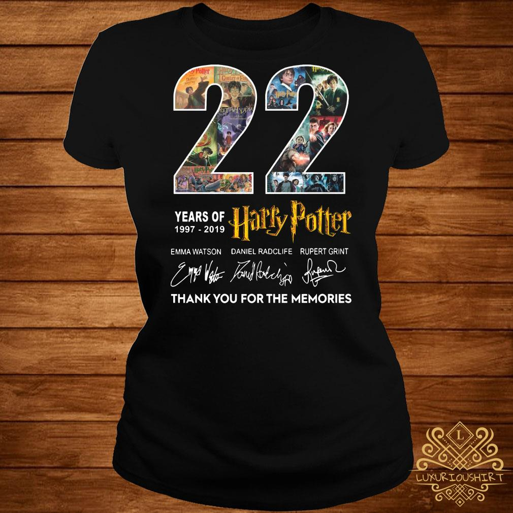22 Years Of 1977-2019 Harry Potter Thank You For The Memories ladies Tee