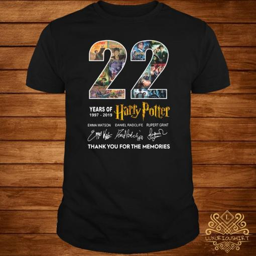 22 Years Of 1977-2019 Harry Potter Thank You For The Memories Shirt