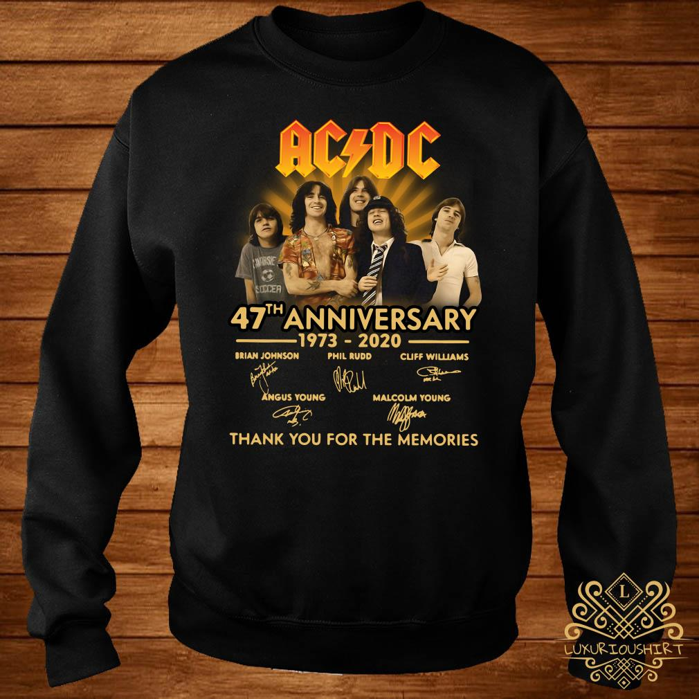ACDC 47th Anniversary 1973-2020 Thank You For The Memories Sweater