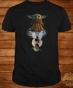 Baby Yoda Water Reflection Mirror Yoda Shirt