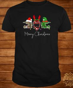 Helmets Leopard Plaid Printed Merry Christmas Shirt
