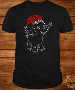Santa Elephant Diamond Christmas Shirt