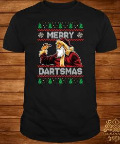 Santa Plays Darts Merry Dartsmas Ugly Christmas Sweater