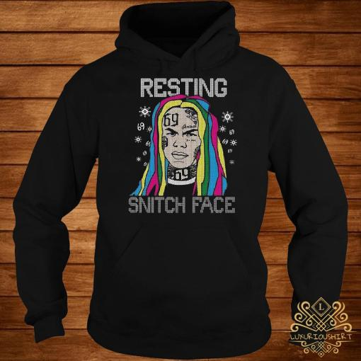 Tekashi69 Resting Snitch Face Ugly Christmas Hoodie