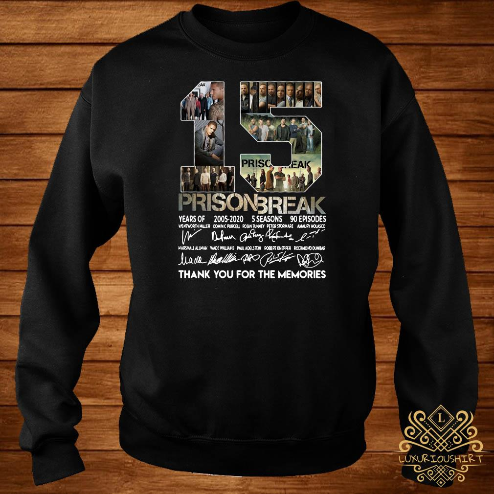 15 Years Of Prison Break Thank You For The Memories Sweater