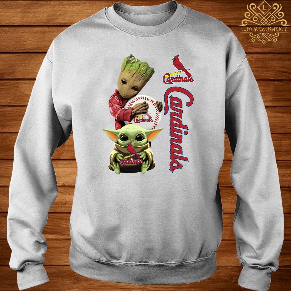 Baby Groot And Baby Yoda Hug St. Louis Cardinals Sweater