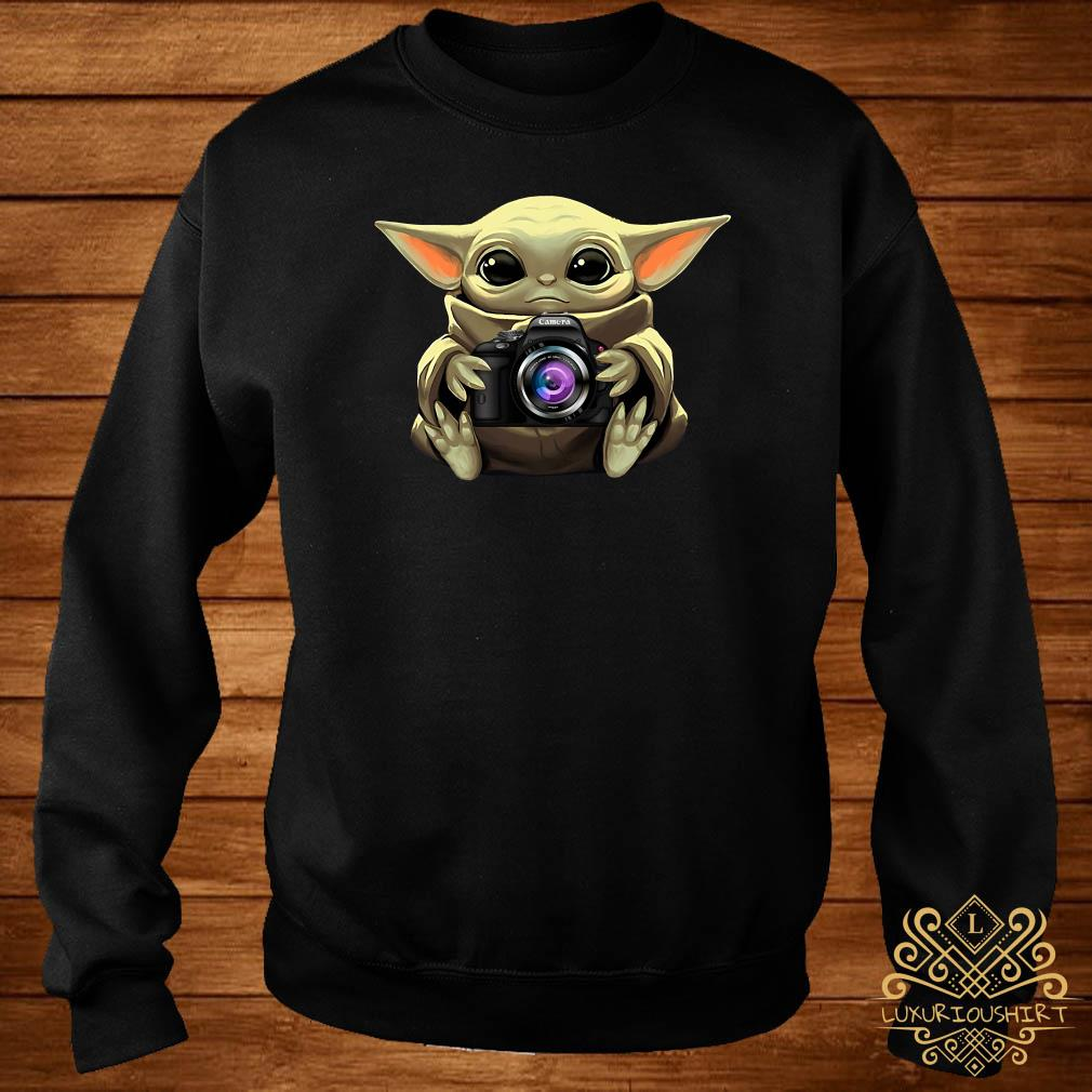 Baby Yoda Hug Camera Sweater