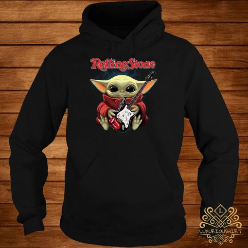Baby Yoda Hug Rolling Stone Guitar Hoodie