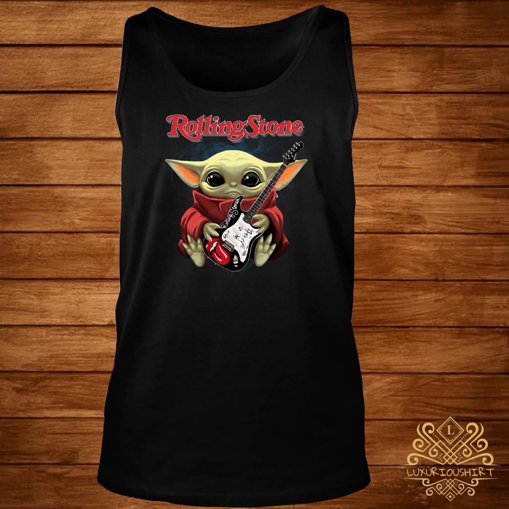 Baby Yoda Hug Rolling Stone Guitar Tank-top