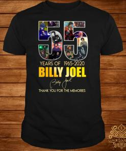 55 Years Of 1965 2020 Billy Joel Thank You For The Memories Shirt