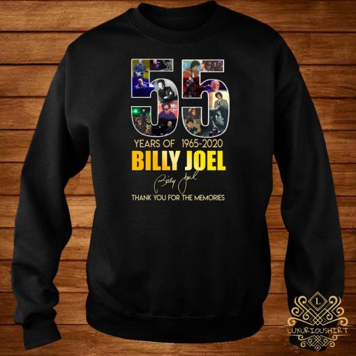 55 Years Of 1965 2020 Billy Joel Thank You For The Memories Sweater