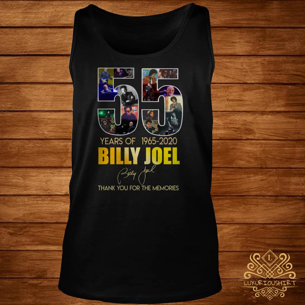 55 Years Of 1965 2020 Billy Joel Thank You For The Memories tank-top