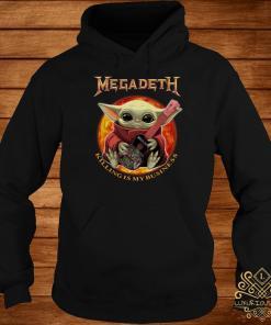 Baby Yoda Hug Megadeth Guitar Killing My Business Hoodie
