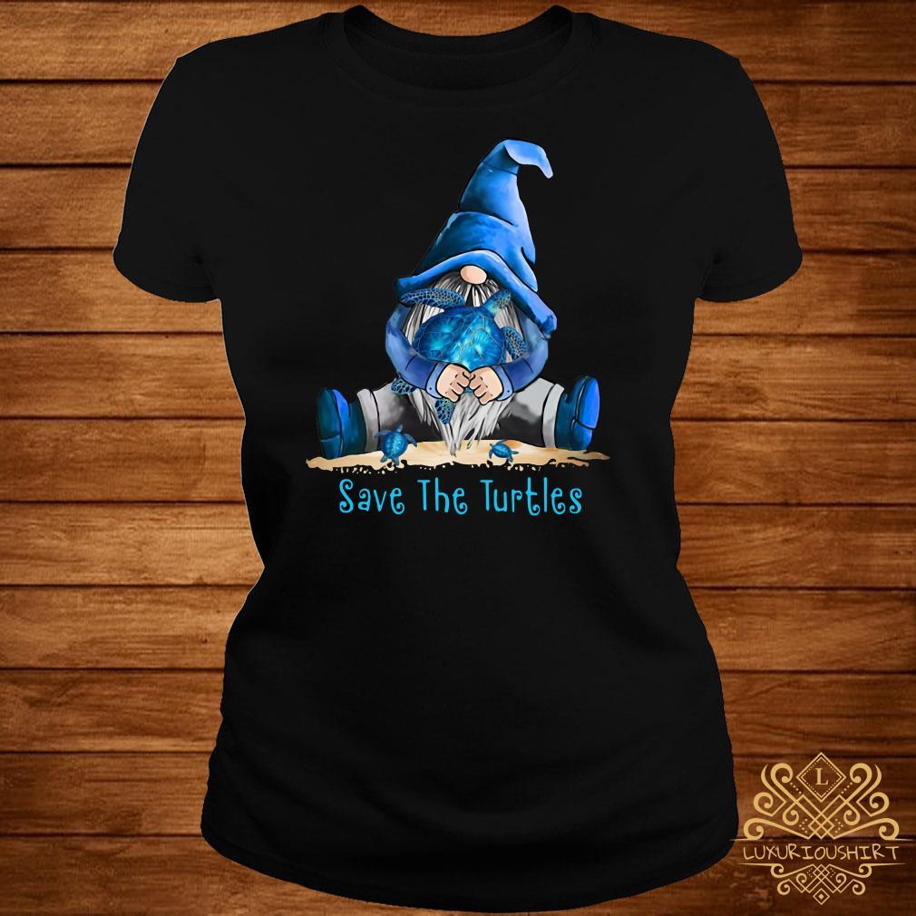 Gnome Save The Turtles Ladies Tee