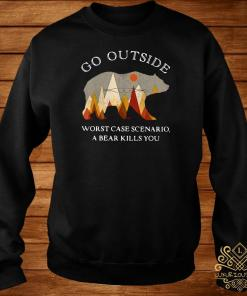 Go Outside Worst Case Scenario A Bear Kills You Sweater