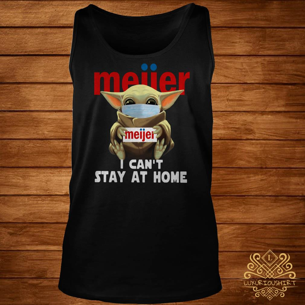 Baby Yoda Face Mask Hug Meiier I Can't Stay At Home Tank-top