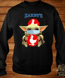 Baby Yoda Mask Hug Zaxby's Shirt sweater