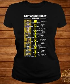 141st Anniversary 1879 2020 Wolverines Charles Woodson Desmond Howard Fielding Shirt ladies-tee