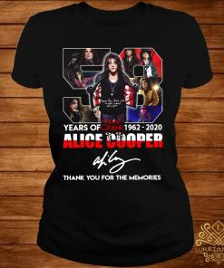 58 Years Of 1962 2020 Alice Cooper Thank You For The Memories Shirt ladies-tee