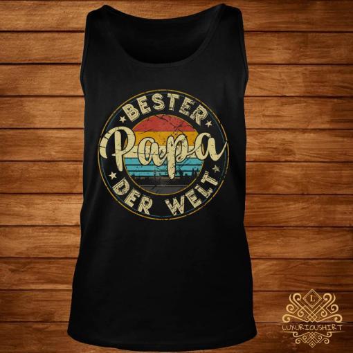 Bester Papa Der Welt Vintage Shirt tank-top