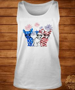 Chihuahua Blue White And Red American Flag Shirt tank-top
