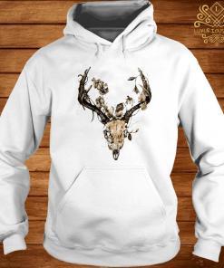 Cow Bull Skull Flower Shirt hoodie