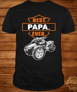 Father's Day Best Papa Ever Motorbike Shirt