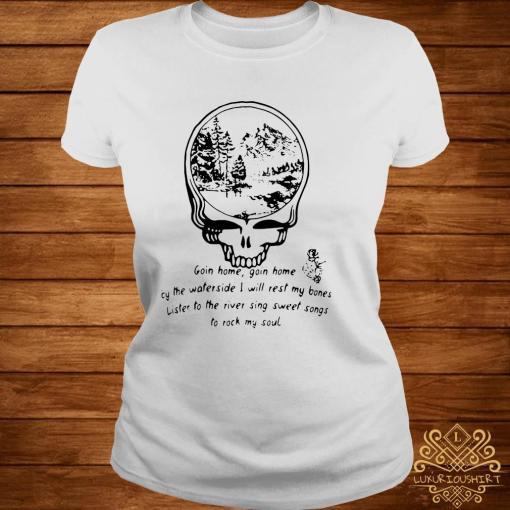 Grateful Dead Goin Home By The Waterside Shirt ladies-tee