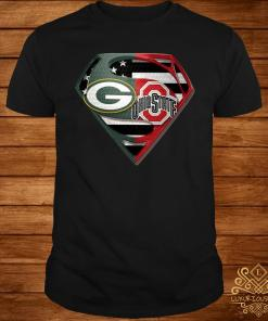Green Bay Packers And Ohio State Superman Shirt