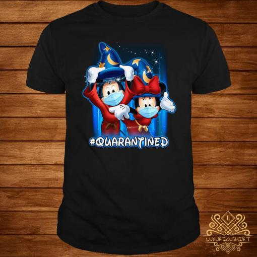 Mickey And Minnie Mouse Mask Fantasia Quarantined Shirt