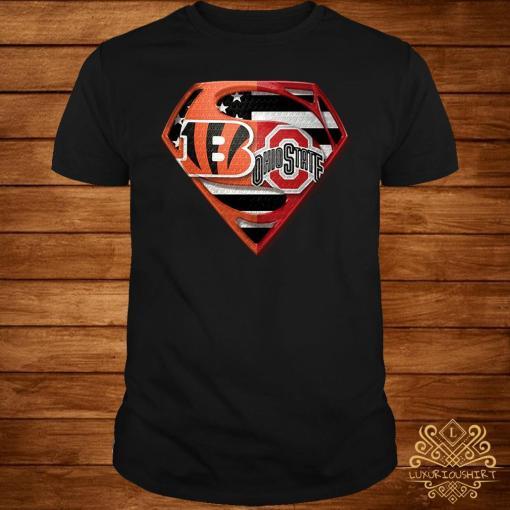 Ohio State Buckeyes And Cincinnati Bengals Superman Shirt