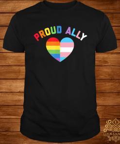 Proud Ally Lgbt Rainbow Heart Shirt