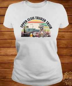Raccoon And Opossum Upper Class Trailer Trash Vintage Shirt ladies-tee